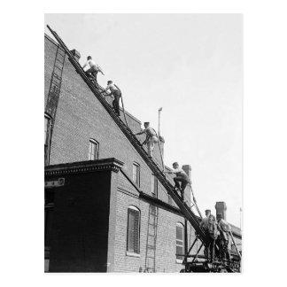 Firemen Training School, 1920 Postcard