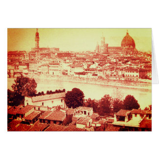 FIRENZE - ANTIQUE FLORENCE PANORAMIC VIEW 1859 CARD