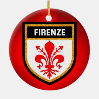 Firenze Flag Ceramic Ornament