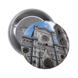Firenze Florence Cathedral Facade 6 Cm Round Badge