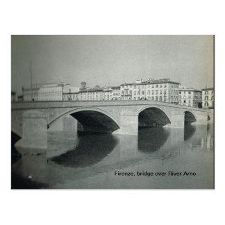 Firenze,Florence,Firenze, bridge over River Arno Postcard