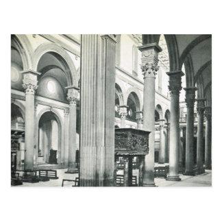 Firenze,Florence, Inside S. Lorenzo Postcard