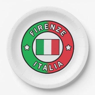 Firenze Italia Paper Plate