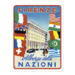 Firenze Nazioni Travel Poster Post Cards