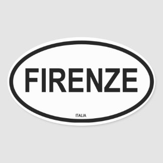 FIRENZE OVAL STICKER
