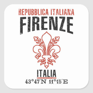 Firenze Square Sticker