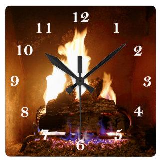 Fireplace Clock