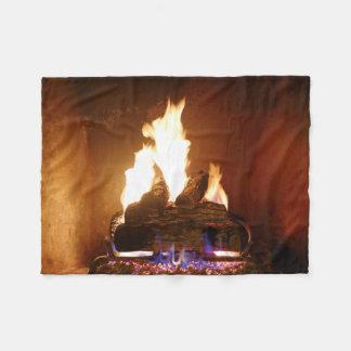 Fireplace Fleece Blanket