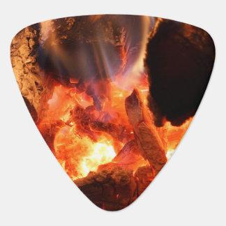 Fireplace Smoldering Embers Plectrum