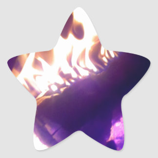 fireplace star sticker
