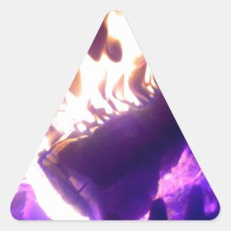 fireplace triangle sticker