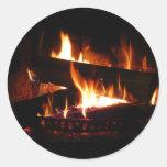 Fireplace Warm Winter Scene