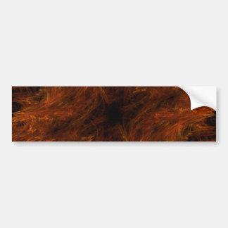 Firery  Abstract Fractal Background Bumper Sticker