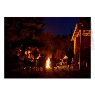 Fires At Night Greeting Card