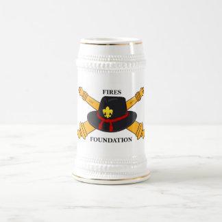 Fires Foundation Logo Stein 18 Oz Beer Stein