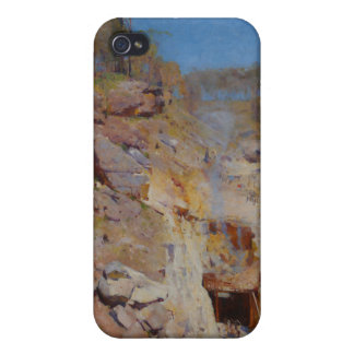 Fire's on by Arthur Streeton Covers For iPhone 4
