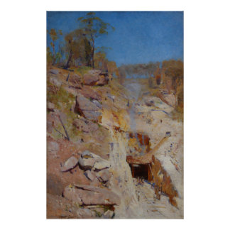 Fire's on by Arthur Streeton Poster