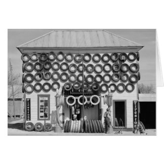 Firestone Tire Shop, 1940 Card
