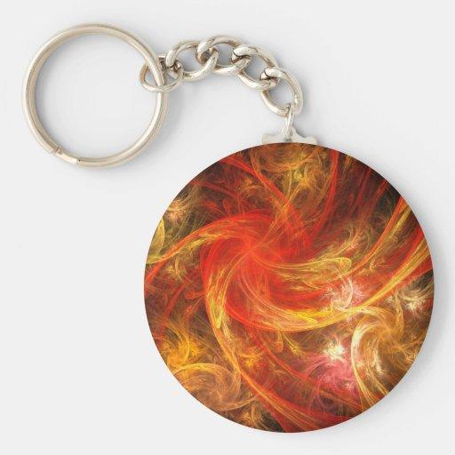 Firestorm Abstract Art Keychain