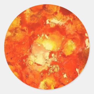 Firestorm abstract classic round sticker