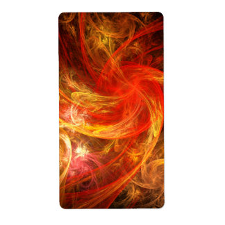 Firestorm Nova Abstract Art Fractal Shipping Label