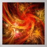 Firestorm Nova Abstract Art Print