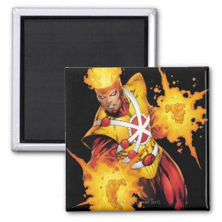 Firestorm Punch Square Magnet