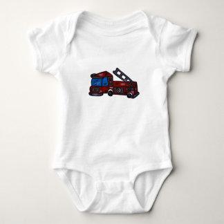firetruck baby bodysuit