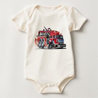 firetruck burnout baby bodysuit