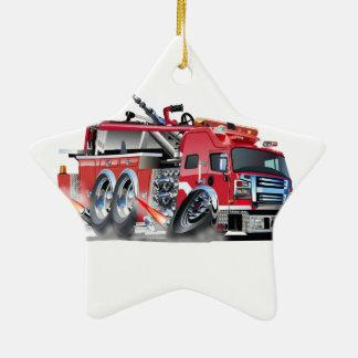 firetruck burnout ceramic star decoration