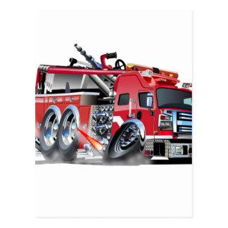 firetruck burnout postcard