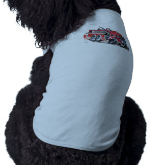firetruck burnout sleeveless dog shirt
