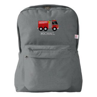 Firetruck Personalized Backpack