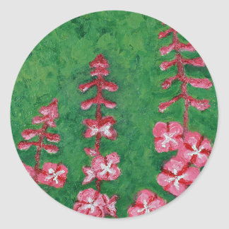 fireweed classic round sticker