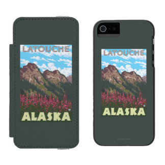 Fireweed & Mountains - Latouche, Alaska Incipio Watson™ iPhone 5 Wallet Case