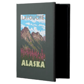 Fireweed & Mountains - Latouche, Alaska iPad Air Cover