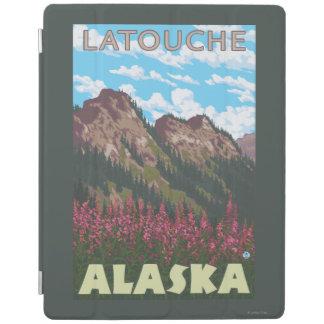 Fireweed & Mountains - Latouche, Alaska iPad Cover