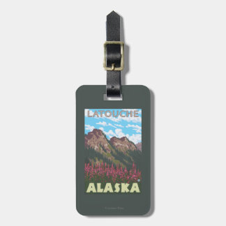 Fireweed & Mountains - Latouche, Alaska Tag For Bags