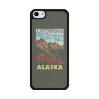 Fireweed & Mountains - Latouche, Alaska Maple iPhone 5C Slim Case