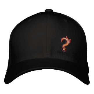 FireWhat Fit Hat with Black on Black logo Embroidered Cap