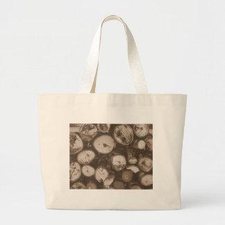 Firewood Large Tote Bag