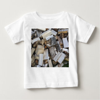 Firewood  logs photograph baby T-Shirt