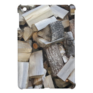 Firewood  logs photograph case for the iPad mini