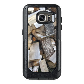 Firewood  logs photograph OtterBox samsung galaxy s7 case