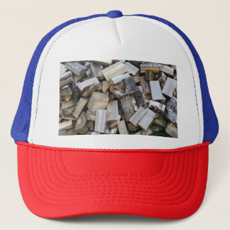 Firewood  logs photograph trucker hat