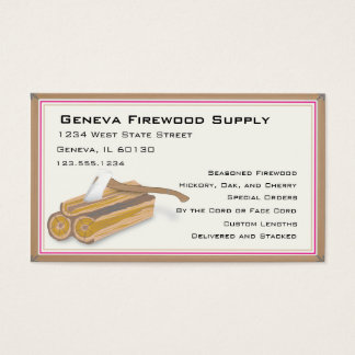 Firewood or tree service business card