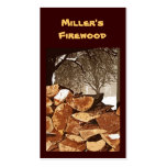 Firewood Pack Of Standard Business Cards