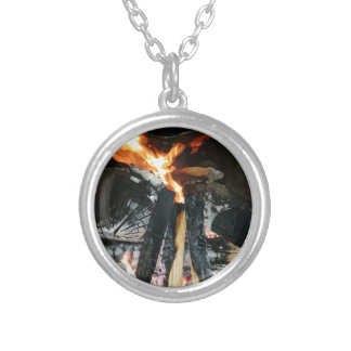 Firewood Silver Plated Necklace
