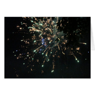 Firework 4th of July Card