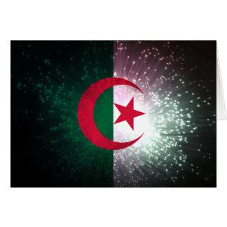 Firework; Algeria Flag Card